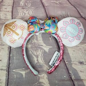 Disney Park Sequin it/'s a small world Clock Minnie Ears Bow Mickey Headband